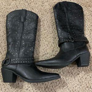 Black Roper boots 7b